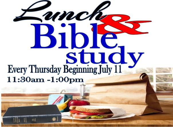 Lunch & Bible Study Announcement