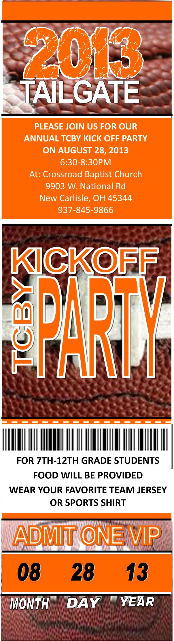 TCBY Kick Off Party Ticket