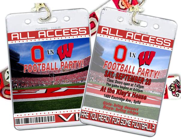 VIP passes to Ohio State FB party